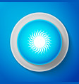 sun icon isolated on blue background vector image