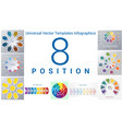 universal templates set infographics 8 positions vector image vector image