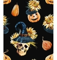 Watercolor halloween pattern vector image vector image