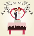 Wedding design over white background vector image