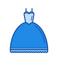 wedding dress line icon vector image vector image