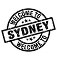 welcome to sydney black stamp vector image vector image