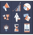 Office and business icons in gray buttons version vector image