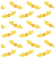 Bananas and oranges pattern vector image