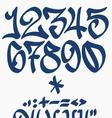Numbers and symbols - Graffiti font - Handwritten vector image