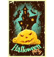 Retro Style Halloween Poster vector image