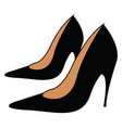 a lovely black high heel pump shoe well-suited vector image vector image