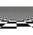 Abstract bent checkered 3D background