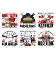 barbecue time picnic burgers and steak house vector image