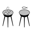 barbecue with fish vector image