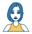 beautiful woman profile cartoon vector image