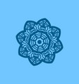 big blue snowflake on light blue background vector image vector image