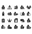 Black human resource and business icons vector image vector image