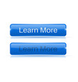 blue button learn more active and normal vector image vector image