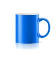 Blue mug on white vector image vector image