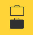 briefcase thin line icon flat icon isolated on vector image vector image