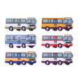 bus set in bright colors vector image vector image