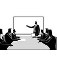 business people having a meeting vector image vector image
