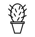 cactus thin line icon simple minimal pictogram vector image