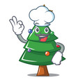 chef christmas tree character cartoon vector image vector image