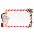 christmas santa claus sign vector image vector image