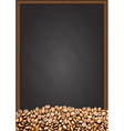 coffee beans with chalkboard background vector image vector image