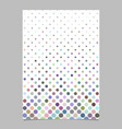 color circle pattern poster design - page vector image vector image