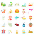 cool show icons set cartoon style vector image