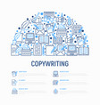 copywriting concept in half circle vector image vector image