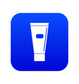 cosmetic tube of cream or gel icon digital blue vector image