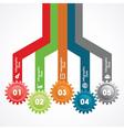Creative gears Info-graphics option banner vector image