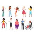 different woman set cartoon international female vector image vector image