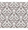 Elaborate white vintage seamless pattern on brown vector image