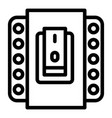 electric switch icon outline style vector image