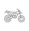 enduro motorcycle line outline icon vector image