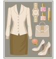 Fashion set with a blouse and a skirt