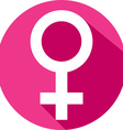 Female Gender Icon vector image vector image