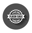 flash sale grunge rubber stamp with long shadow vector image vector image