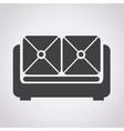 furniture sofa icon vector image