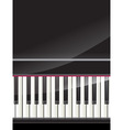 grand piano keys background vector image vector image