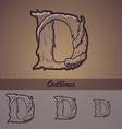 Halloween decorative alphabet - D letter vector image vector image