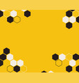 hexagon abstract yellow background vector image vector image