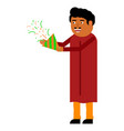 hindu man with a flapper vector image vector image