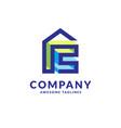 house design for decoration logo vector image