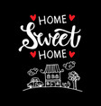inspirational phrase home sweet home vector image