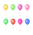 isolated colorful glow gathering event air balloon vector image