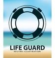 life guard vector image