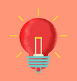 light bulb line icon isolated on pink background vector image vector image
