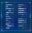 loading bars set vector image vector image
