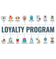 loyalty program typography banner vector image